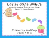Game Boards - Addition and Subtraction Practice - Easter Edition
