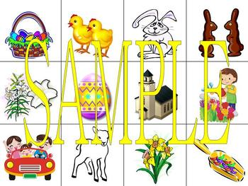 Easter Game Cards and Flashcards PowerPoint in Spanish