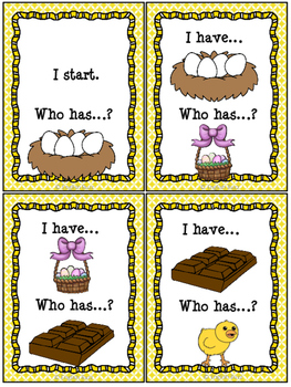 "Easter - Game ""I have... Who has...?"""