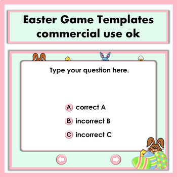 Easter Game Templates  Commercial Use OK
