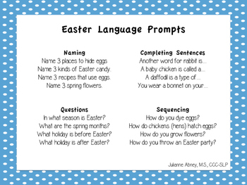 Easter Game with Speech & Language Prompts