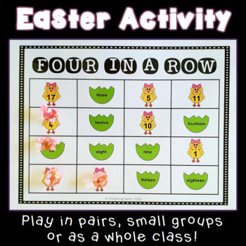 Four in a Row Easter Game - Numbers up to 20