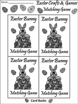 Easter Games Activities: Easter Vocabulary Matching Card Game Activity