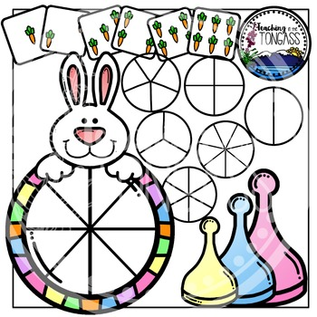 Easter Spinner Games Clipart Bundle