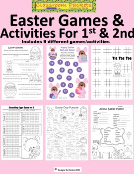 Easter Games and Activities Packet