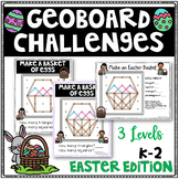 Easter Geoboard Geometry Challenges - Holiday Task Cards-Fine Motor Skills