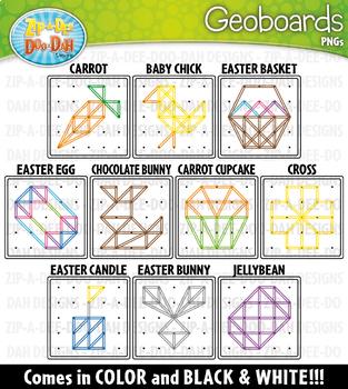 Easter Geoboards Clipart {Zip-A-Dee-Doo-Dah Designs}