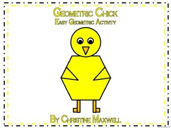 Geometric Chick for Easter or Spring 2D Shapes