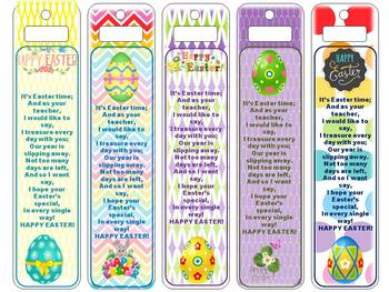Easter Bookmarks (From teacher to student - non-religious)
