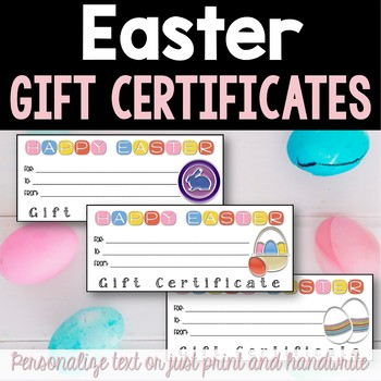 Easter Gift Certificates