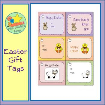 Easter Gift Tags Free
