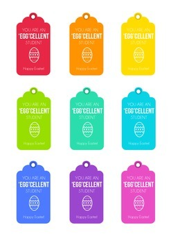 image relating to Printable Easter Gift Tags referred to as Easter Present Tags