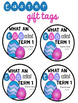 Easter Gift Tags - FREEBIE
