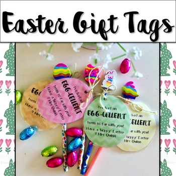 Easter gift tags by mrs quinns classroom teachers pay teachers easter gift tags negle Image collections