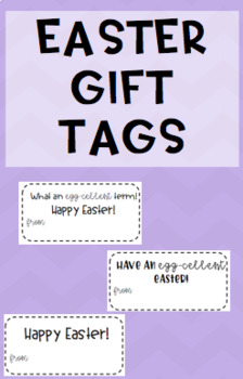 Easter Gift Tags {3 options/types}