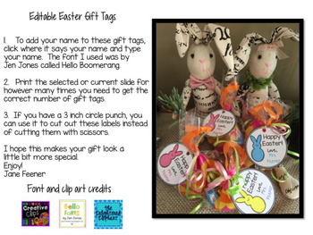 Easter Gift Tags - Editable
