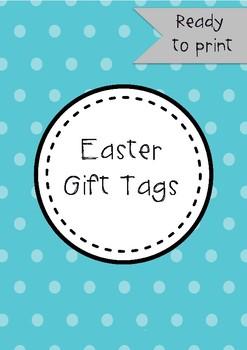 Easter Gift Tags Printable