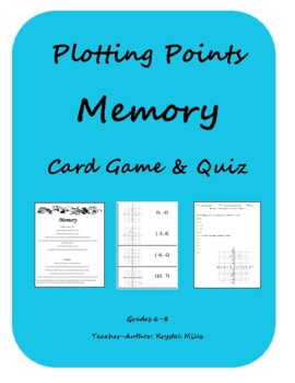 Easter Graphing Coordinates Picture, Card Game and Quiz Package