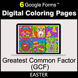 Easter: Greatest Common Factor (GCF) - Google Forms   Digi