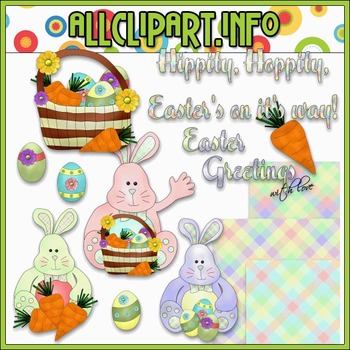 $1.00 BARGAIN BIN - Easter Greetings Clip Art