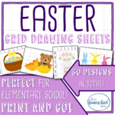 Easter Grid Drawing Set - Elementary and Homeschool