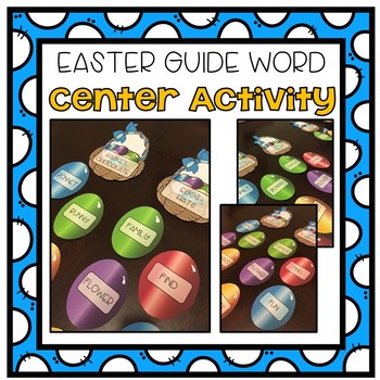 Easter Guide Words Activity