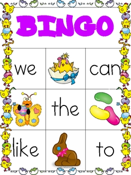 Easter HFW Bingo