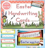 Easter Handwriting Cards - write and wipe March Center Activity 24 pages
