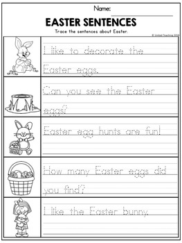 Easter Handwriting Lessons (Manuscript Edition)