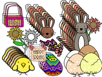 Easter / Happy Spring Clipart (Personal & Commercial Use)