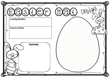 Easter Hat Design Planning Template And Reflection