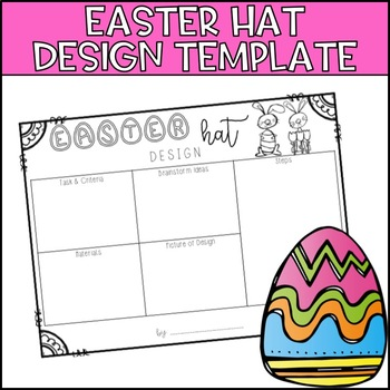 easter hat template teaching resources teachers pay teachers