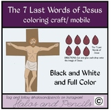 Easter/ Holy Week/ Good Friday Craft 7 Last Words of Jesus coloring/ craft