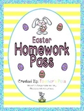 Easter Homework Pass