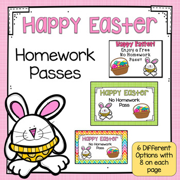 Easter Homework Pass #HoppyHalfDeals