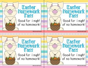 Easter Homework Pass *FREEBIE*