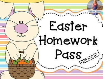 Easter Homework Pass *FREEBIE*