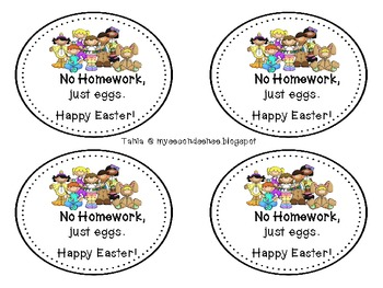 Easter Homework Passes (No Homework, Just Eggs)