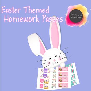 Easter Homework Passes - Set of 6
