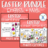 Easter Reading Writing Math Bundle
