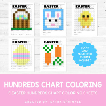 Easter Hundreds Chart Coloring Pages