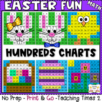 Easter Hundreds Chart Hidden Picture Fun Pack
