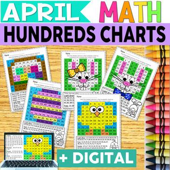 Easter Hundreds Chart Hidden Picture Fun Pack