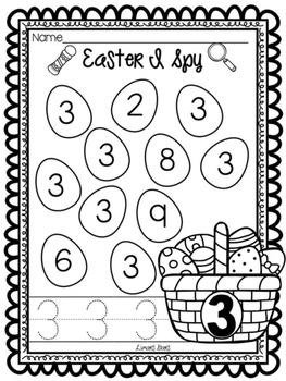 Easter I Spy Numbers 1-10