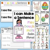 Easter Make a Sentence Play Dough Mats, Vocab. Cards + Record Sheets