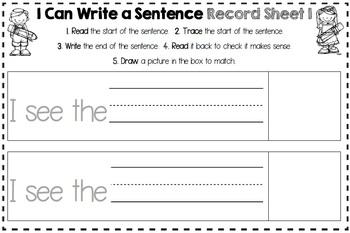 Easter Make a Sentence Play Dough Mats, Vocab. Cards + Record Sheets