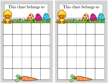 Easter Incentive Chart