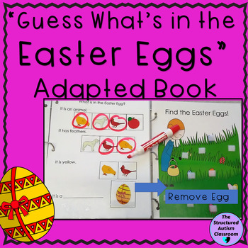 Easter Categories Adapted Book- Identify Pictures with Inferencing for Autism