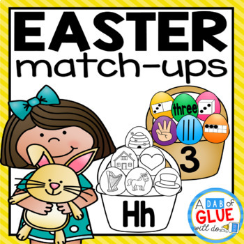 Easter Initial Sound and Number Match-Up