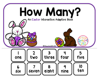 """Easter Interactive Adaptive books - set of 2 (""""I See and """"How Many?)"""